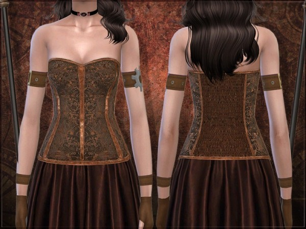 The Sims Resource: Taxa corset by RemusSirion