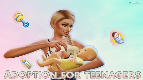 Mod The Sims: Adoption For Teenagers by MSQSIMS • Sims 4