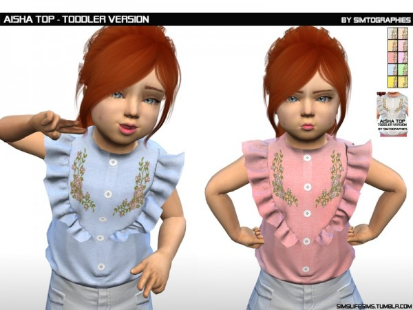 The Sims Resource: Aisha Top Toddler Version by simtographies