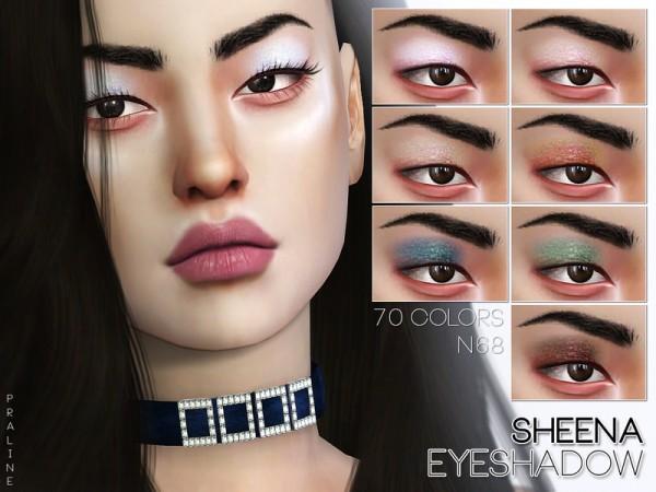 The Sims Resource: Sheena Eyeshadow N68 by Pralinesims