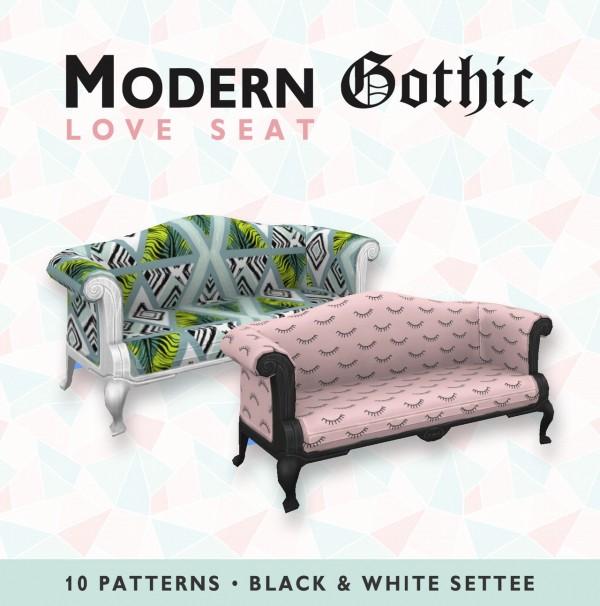 Simplistic: Modern Gothic Love Seat
