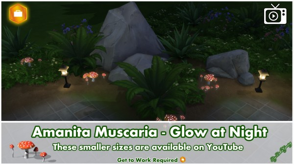 Mod The Sims: Amanita Muscaria   Glow at Night by Bakie