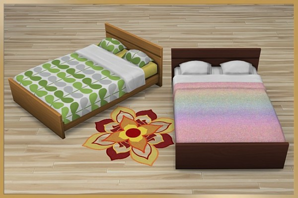 Blackys Sims 4 Zoo: Bed frame Bibi by Cappu