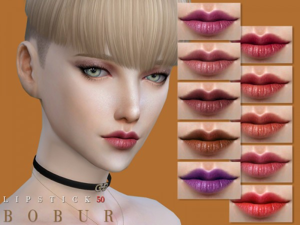 The Sims Resource: Lipstick 50 by Bobur3