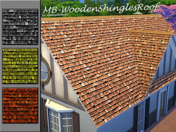The Sims Resource: Wooden Shringles Roof by matomibotaki