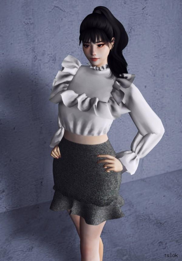 Tslok: Ann frilly blouse