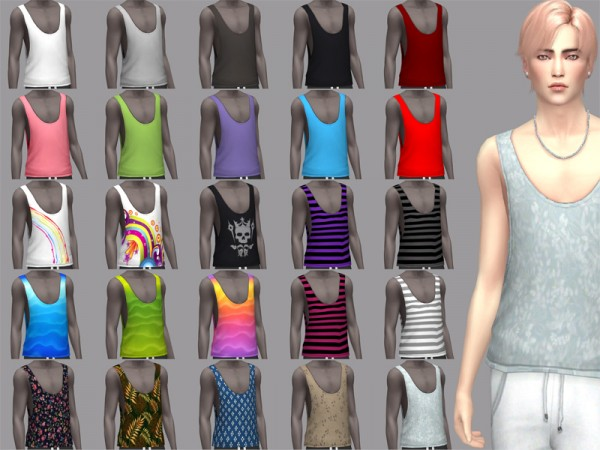 The Sims Resource: Hey, Summer!   male top by WistfulCastle