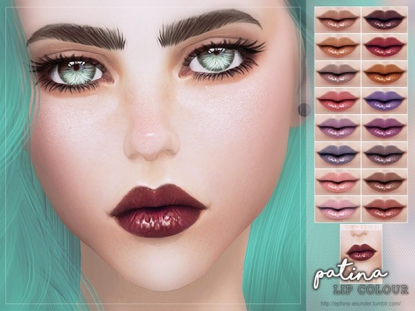The Sims Resource: Patina   Lip Colour by Screaming Mustard