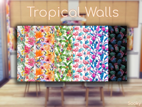The Sims Resource: Tropical Walls by Sooky