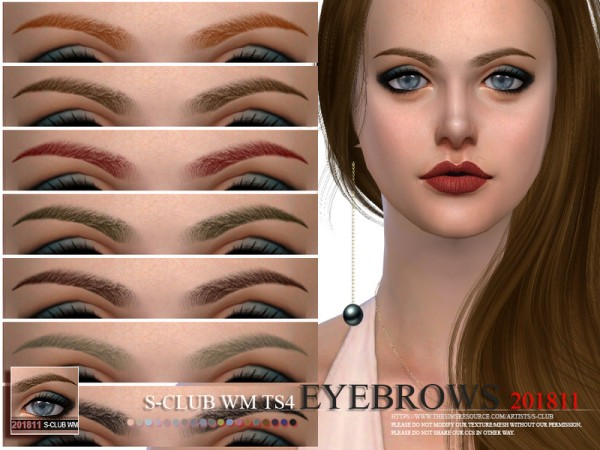 The Sims Resource: Eyebrows 201811 by S club