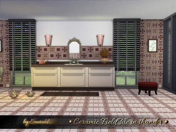 The Sims Resource: Ceramic Field Tile in thunder by emerald
