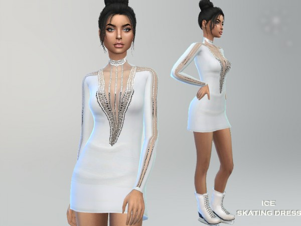 The Sims Resource: Ice Skating Dress by Puresim