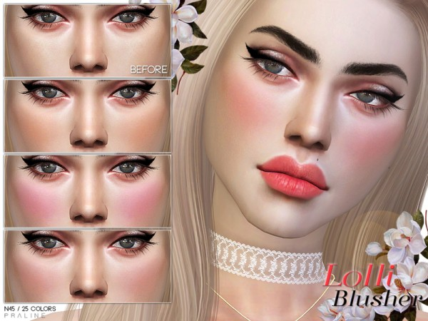 The Sims Resource: Lolli Blusher N45 by Pralinesims