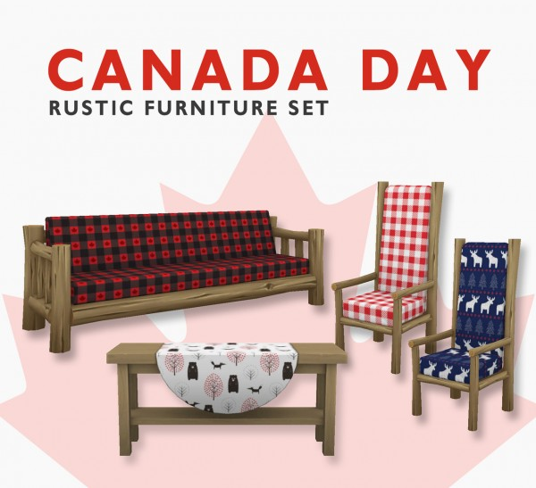 Simplistic: O Canada  sofa, chair and table