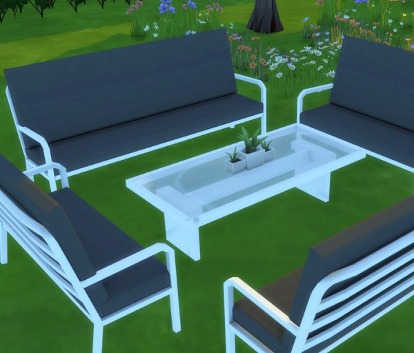 Simlish Designs: Marquee Outdoor Setting
