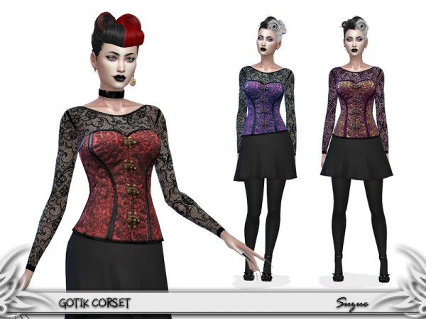 The Sims Resource: GotiK Corset by Suzue