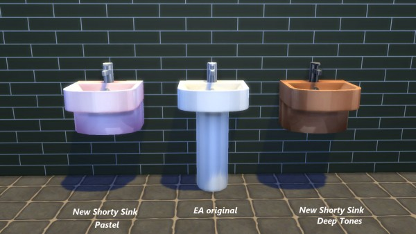 Mod The Sims: Shorty Sink by Snowhaze