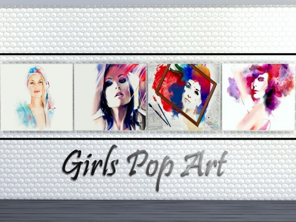 The Sims Resource: Girls Pop Art by Merci