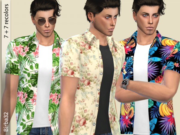 The Sims Resource: Spring flowers shirt by Birba32