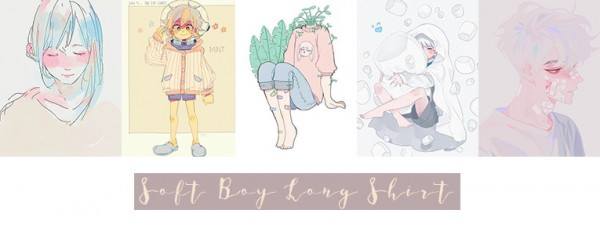 Simsworkshop: Soft Boy Long Shirt paintings by Eluegl