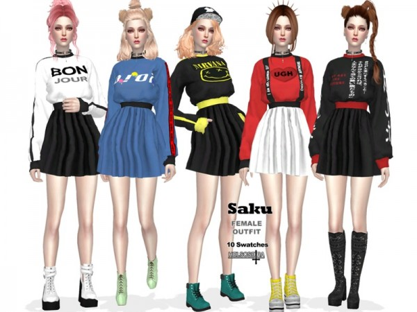 The Sims Resource: SAKU   Outfit by Helsoseira