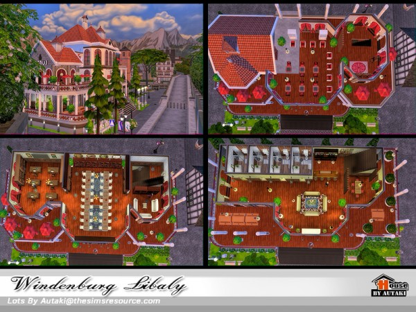 The Sims Resource: Windenburg Library  by Autaki