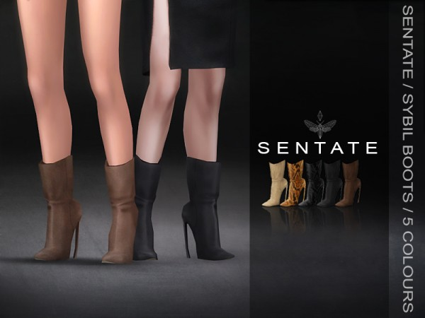 The Sims Resource: Sybil Boots by Sentate