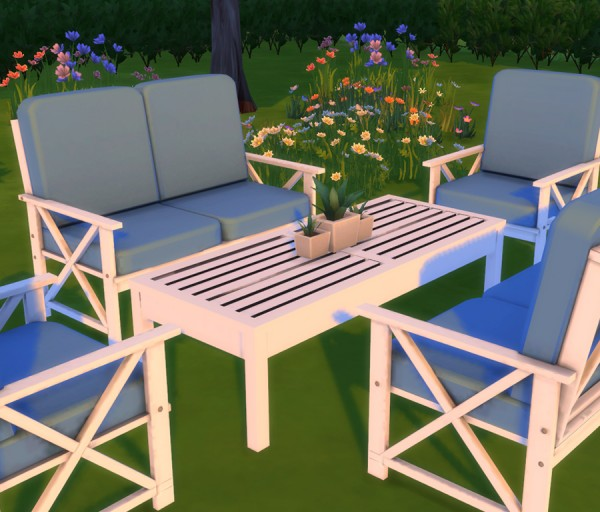 Simlish Designs: Alveranda Outdoor Setting