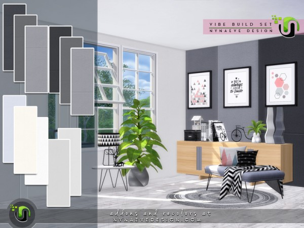 The Sims Resource: Vibe Build Set by NynaeveDesign