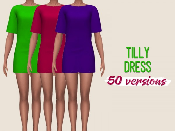 Simsworkshop: Tilly dress by midnightskysims