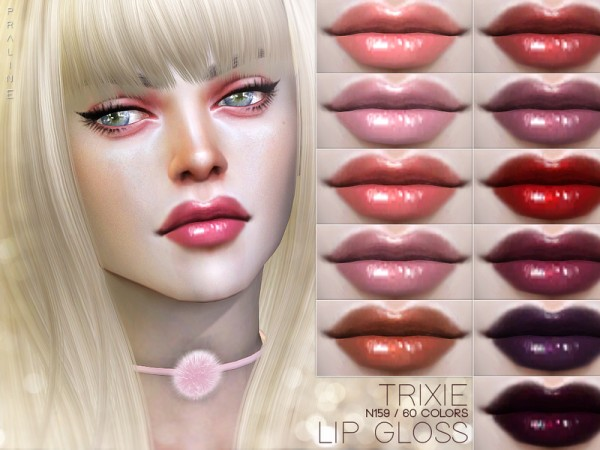 The Sims Resource: Trixie Lip Gloss N159 by Pralinesims