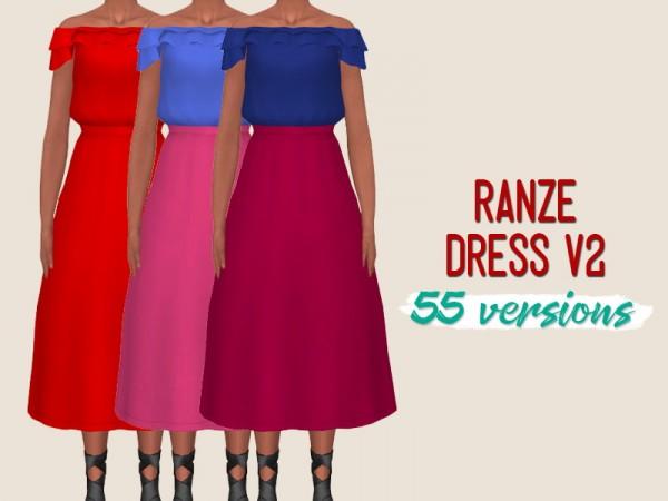 Simsworkshop: Ranze dress v2 by midnightskysims