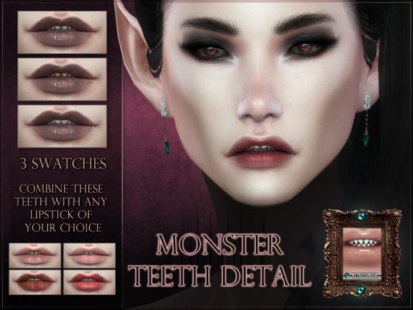 The Sims Resource: Monster teeth Lip Detail by RemusSirion