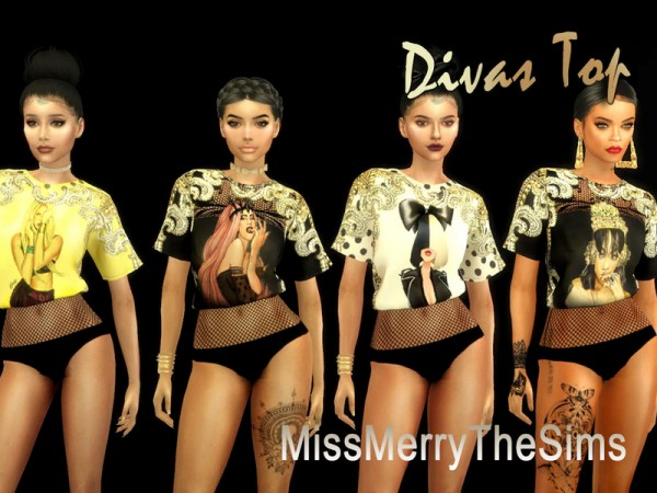 The Sims Resource: Divas Top by Maria MissMerry