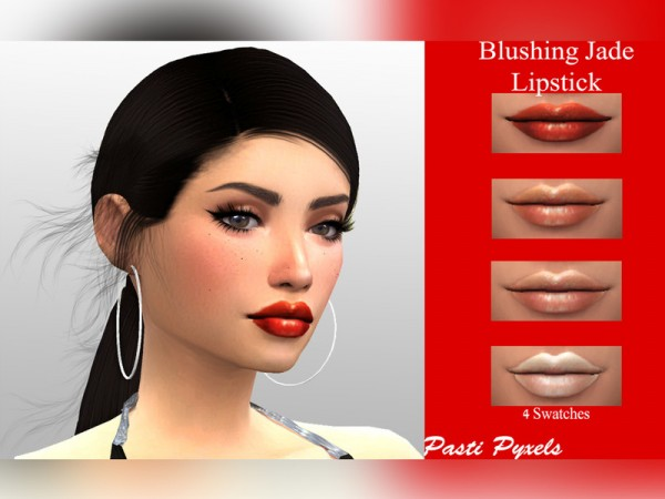 The Sims Resource: Blushing Jade Lipstick by PastiPyxels