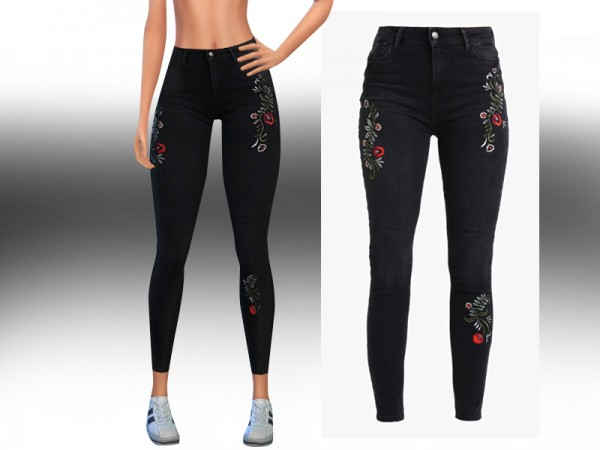 The Sims Resource: Skinny Casual Royal Jeans by Saliwa