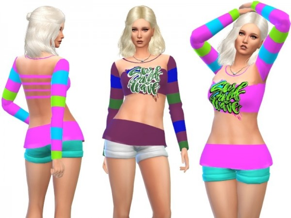 The Sims Resource: Summer sweater by Louisa 1