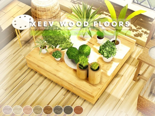 The Sims Resource: XEEV Wood Floors by Pralinesims