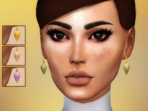 The Sims Resource: Brooklyn Earrings by Sharareh