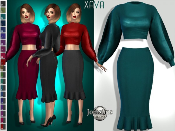 The Sims Resource: Xava dress by jomsims