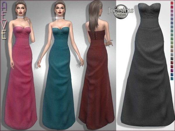 The Sims Resource: Aeve dress by jomsims