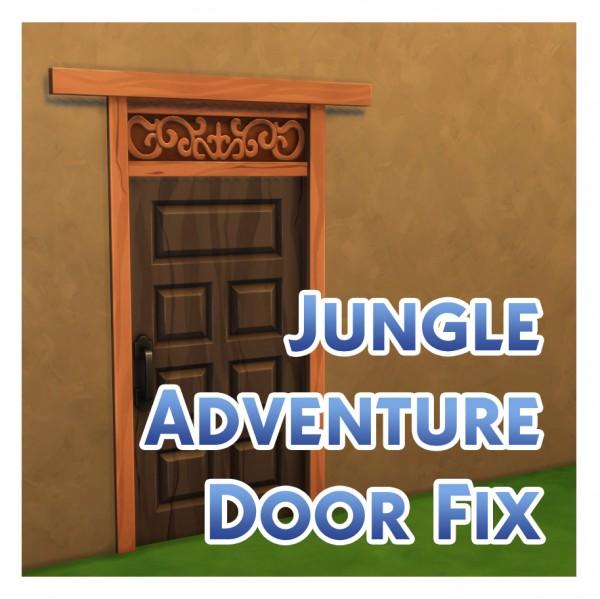Mod The Sims: Wooden Door Texture Fix by Menaceman44