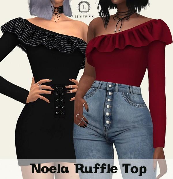 LumySims: Noela Ruffle Top