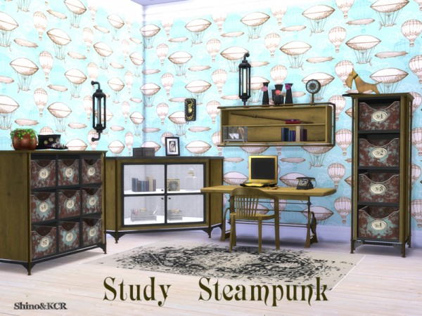 The Sims Resource: Study Steampunk by ShinoKCR