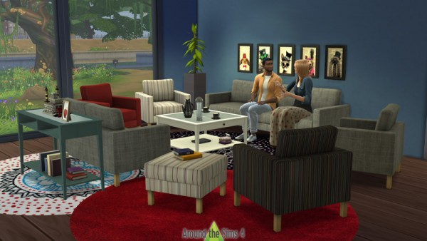 Around The Sims 4: Living Room