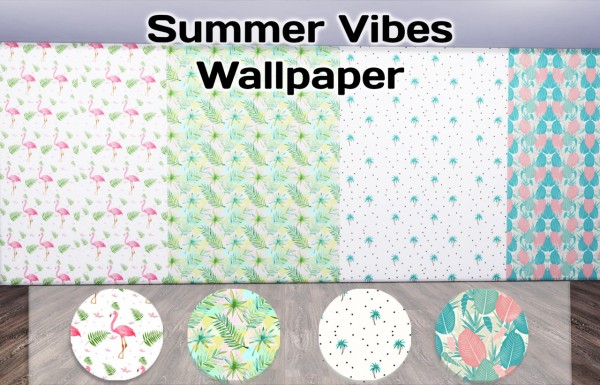 Simming With Mary: Summer Vibes walls and paints