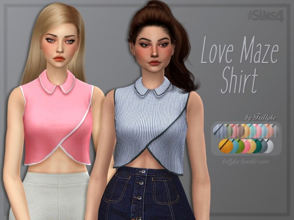 The Sims Resource: Love Maze Shirt by Trillyke