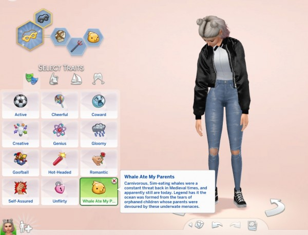 Mod The Sims: Whale Ate My Parents Medieval Trait by Twilightsims