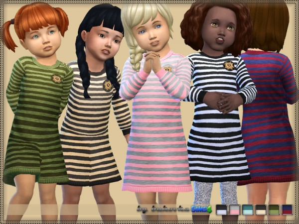 The Sims Resource: Dress Stripes by bukovka