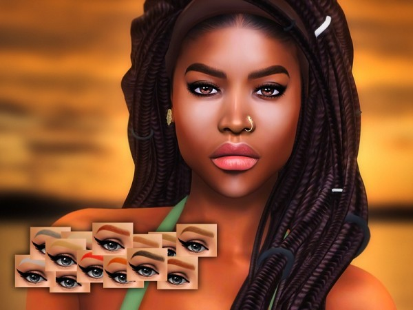 The Sims Resource: Renna eyebrows by KatVerseCC